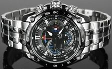 Imported Casio Edifice Black Dial Red Bull Men's Watch-EF-550D-1AVDF (EF-550BRB)