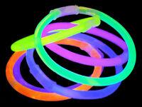 GLOW BRACELETS 8 INCH GLOW STICKS WITH FREE GLOW BALL CONNECTORS