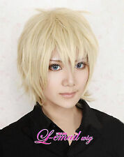 APH Axis Powers Hetalia England Short Blonde Anime Hair Cosplay  Wig + free gift