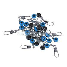 20pcs Fishing Rolling Swivels Connector Snaps Tackle Sea Rig Link Blue