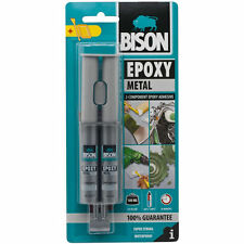 Bison Metal Epoxy 2-Component Adhesive Super Strong Waterproof Bonding Glue 24ml