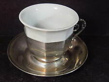 .900 Sener Silver Turkish Turkey TEA OR COFEE CUP SET Cup Holder & Saucer