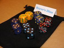 Speckled 16mm D6 Chessex Dice (10 Dice)–Space, Lotus, Twilight, Blue Stars,Cobat