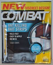 COMBAT ANT KILLING BAIT STRIPS KILLS THE COLONY DISCREET BUG TRAP INDOOR KITCHEN