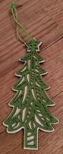 vintage wooden cutout Christmas tree ornament Unique Festive Holiday X-Mas OOAK
