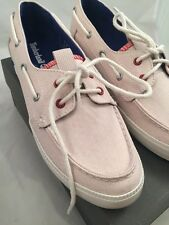 Timberland Women's Newport Bay Canvas B White Shoes 100% Genuine UK Size5 / EU38