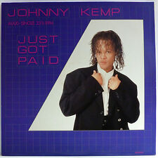 "JOHNNY KEMP : JUST GOT PAID | 12"" MAXI SINGLE 1988 TEDDY RILEY"