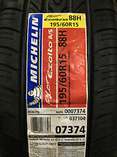 4 New 195 60 15 Michelin Pilot Exalto A/S Tires