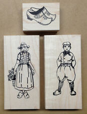 Mounted Rubber Stamps, Set, Holland, Germany, Dutch Stamps, Dutch Boy, Girl