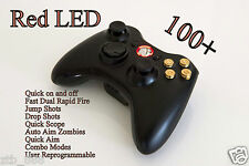 BULLET BUTTONS XBOX 360 RAPID FIRE MODDED CONTROLLER COD GHOST MW3 RED LED NEW
