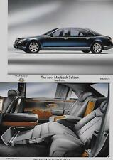 MAYBACH SALOON MARCH 2002 PRESS PHOTO  'brochure related'  4 OF