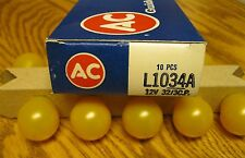 NOS 1034A AC GUIDE PARKING LAMP TURN SIGNAL BULBS 67 68 69 CAMARO FIREBIRD
