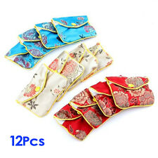 12 x Jewellery Jewelry Silk Purse Pouch Gift Bag Bags HOT