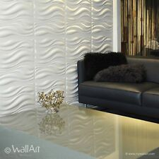 "3D Wall Panels ""Waves"" - Box of 12 ( 32.29 sqft )- FREE SHIPPING buy 2 Boxes"