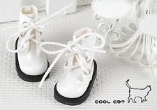 ☆╮Cool Cat╭☆【15-09】Blythe Pullip Doll Short Shoes # Shiny White