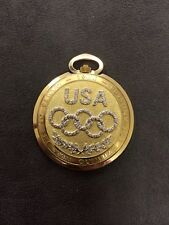 Longines 14K Gold 1984 Los Angeles Olympics Edition Pocket Watch With Diamonds