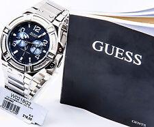 GUESS Edelstahl silber blau Herrenuhr Uhr NEU W0218G2