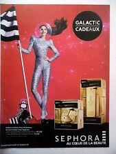 PUBLICITE-ADVERTISING :  SEPHORA Lady Million Paco Rabanne 2015 Galactic Cadeaux