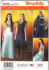 Game of Throne Renaissance Costume Dress Gown Cape Sewing Pattern 14 16 18 20 22