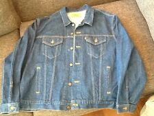 LEVI'S 70506-0216 TRUCKER DENIM BLUE JEAN JACKET/COAT MEN'S TAG SIZE 52 (XL) USA