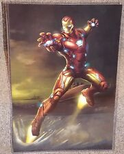 Iron Man Glossy Print 11 x 17 In Hard Plastic Sleeve