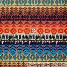 BonEful Fabric FQ Cotton Quilt Rainbow Red Purple Southwest Stripe Navajo Indian