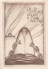 """A9158) WW2 LIVORNO, REGIA ACCADEMIA NAVALE, """"FA DI TUTTI GLI OCEANI .."""" VG.."""