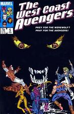 WEST COAST AVENGERS #5 COMIC HAWKEYE TIGRA WEREWOLF BY NIGHT COPPER AGE