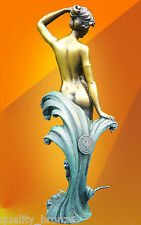 "BRONZE STATUE PREISS "" The WAVE "", ART NOUVEAU SIGNED STATUE SCULPTURE FIGURE"