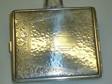 VINTAGE 835 SILVER CIGARETTE CASE W. BEAUTIFUL FLOWER ENGRAVINGS -ZIGARETTENETUI
