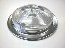 "6"" Round Interior Dome Light with Stainless Steel Base RV Camper Trailer"