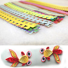 7pcs a Set 3D Quilling Paper Mixed Colors Hand-made Paper DIY Quilling Paper