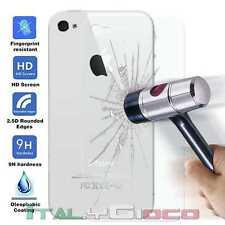 Pellicola Proteggi Schermo Posteriore in Vetro Temperato per Apple iPhone 4 4S