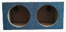 CAR AUDIO DUAL 10 INCH SUB BOX WOOFER SUBWOOFER SEALED ENCLOSURE CARPETED
