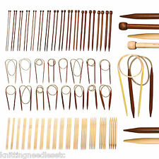 Knitting Needles Bamboo CHOOSE ANY 20 sets of Single, Double, Circular, Crochet