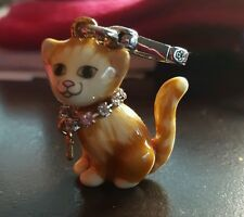 Juicy Couture Ginger Orange Tabby Cat Charm YJRU5972 new in box