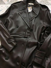 $4,000 Calvin Klein Collection Lamb Leather Made In Italy Trench Coat M L  W/Tag
