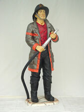 FIREMAN with hose Resin Figure statue FIREFIGHTER display model lifesize action