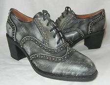 Jeffrey Campbell Women's Sonoma Lace Up Studded Oxfords Heels size 7.5