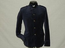 H&M Sharp Blue MOD 5 button Nehru Collar VELVET slim jacket coat 36