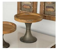 VINTAGE STYLE WOOD & METAL CAKE STAND~COUNTER DISPLAY PLATFORM~WEDDING DECOR