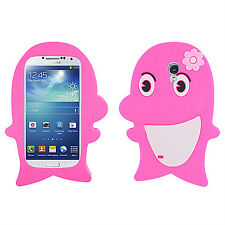 Samsung Galaxy S4 S IV Rubber SILICONE Skin Soft Case Phone Cover Pink Dolphin