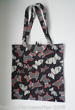 RADLEY - FLEET STREET - BLACK FOLDAWAY TOTE SHOPPER BAG - RADLEY DOGS - RRP £16