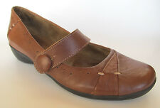 Natural Soul By Naturalizer Womens Navero Brown Leather Mary Jane Shoes, 7.5 VGC
