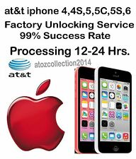 AT&T USA FACTORY UNLOCK SERVICE IPHONE  5S 5 4S 4 CLEAN IMEI OUT OF CONTRACT