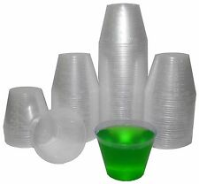 100 Plastic Shot Glasses 1oz Party Cups Jello Shot Bulk Shooter Cups Outdoor Bar
