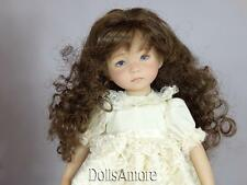 DOLL WIG BROWN LONG WAVY FITS VINTAGE AND MODERN DOLLS 8/9""