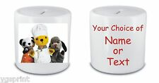 SOOTY & SWEEP MONEY BOX/PIGGY BANK ANY NAME OR TEXT PRINTED FAST POSTAGE