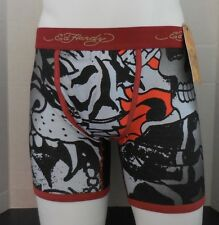 Ed Hardy Men's Fierce Tiger Collage Premium Boxer Brief Size S New