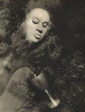 Vintage Lionel Wendt Buddha Buddhist Head Wine Goblet Photogravure Photo Print